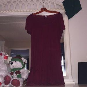 Maroon t shirt dress